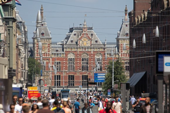 Damrak and Amsterdam Centraal Station