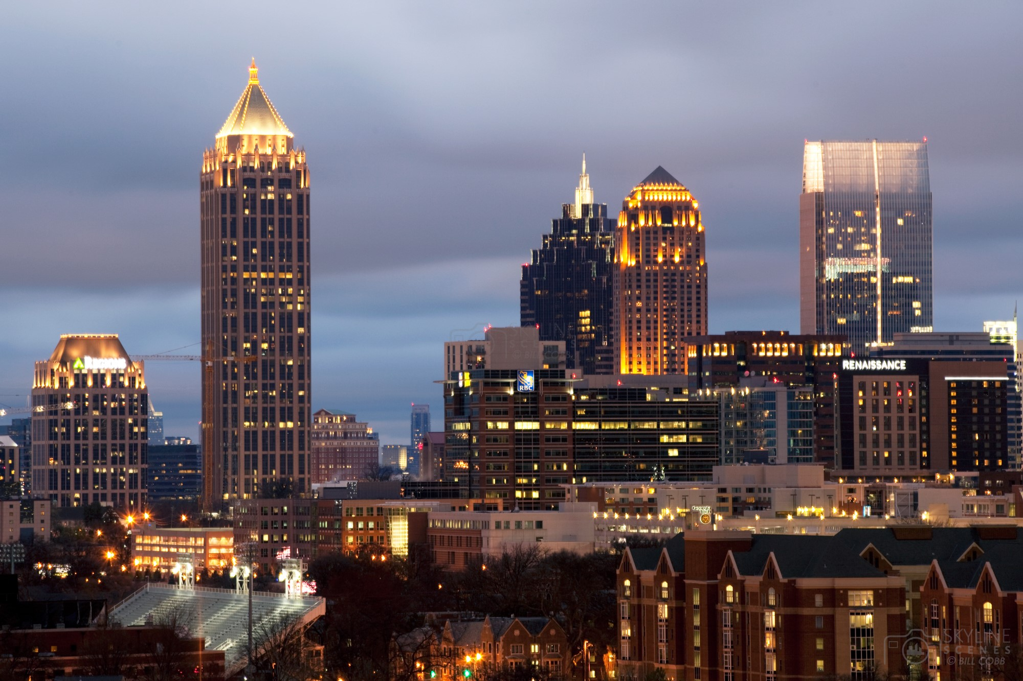 Midtown Atlanta Skyline at Dusk