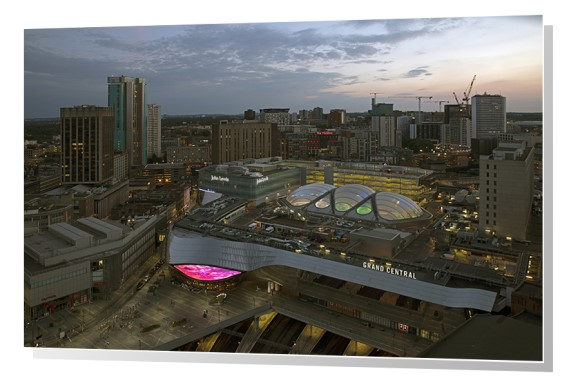 Birmingham Grand Central and skyline