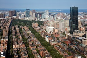 Back Bay and Boston Common Park