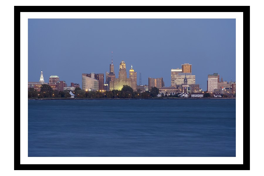Buffalo Skyline from Fort Erie at Dusk