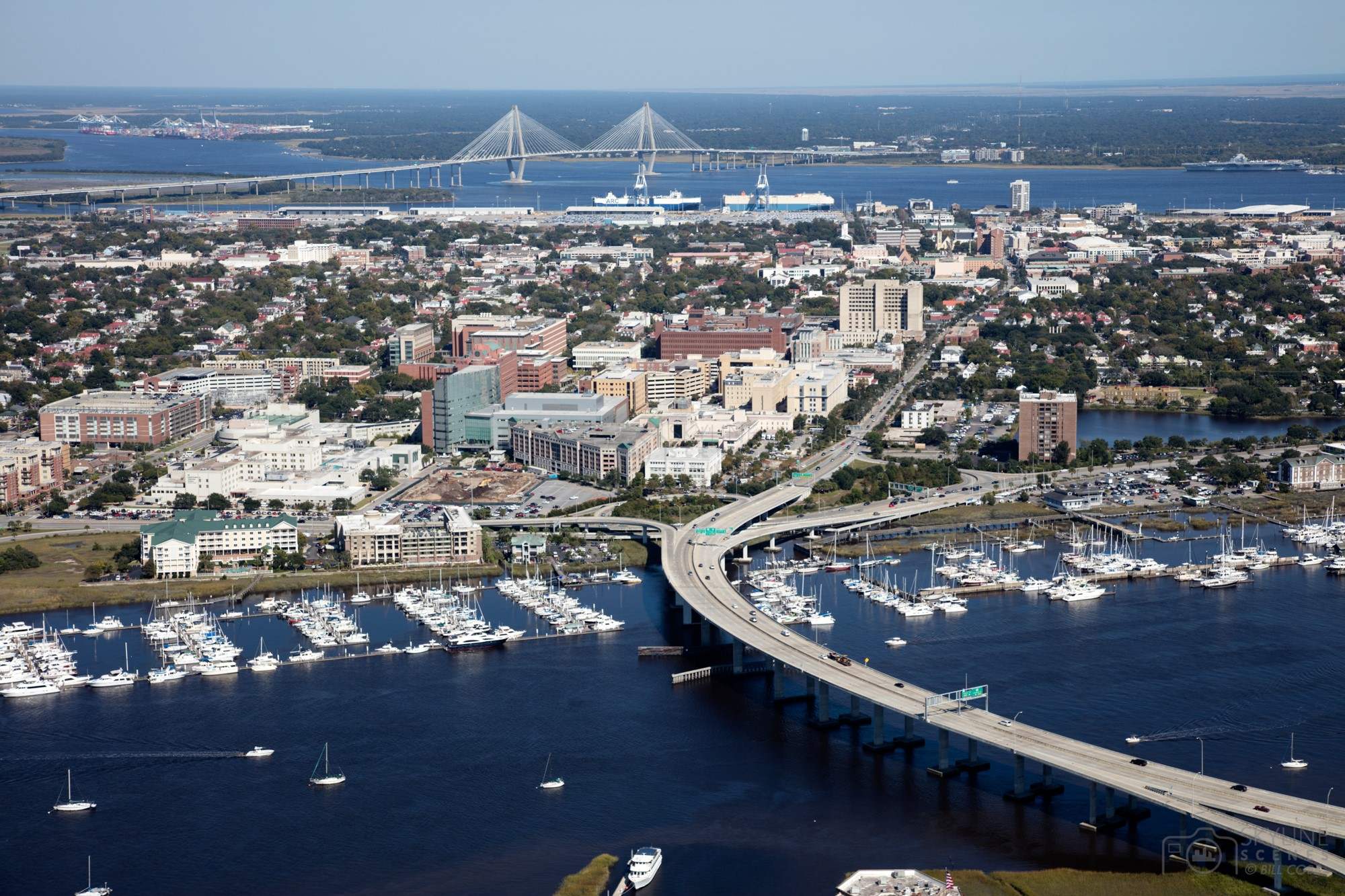 Aerial of Charleston, South Carolina