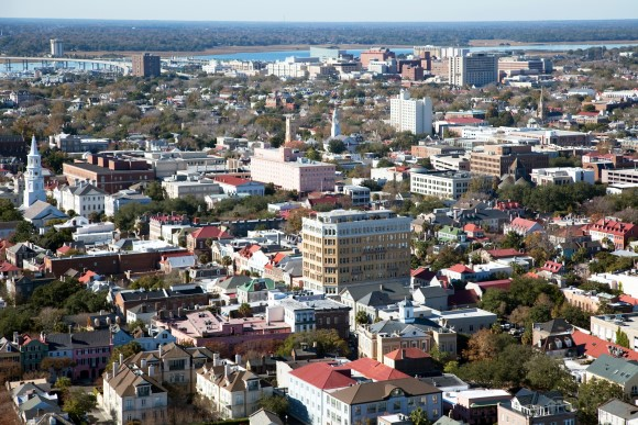 Downtown Charleston Aerial