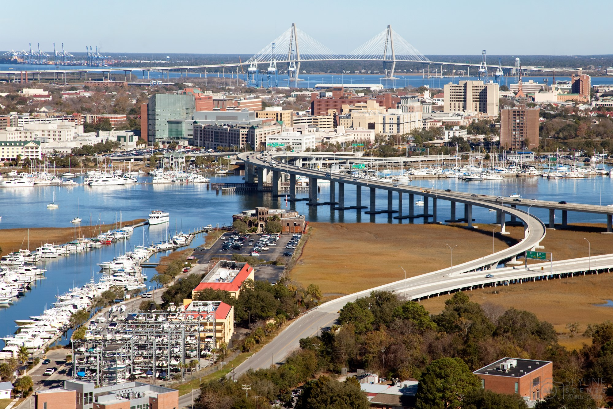 Aerial of Downtown Charleston, South Carolina