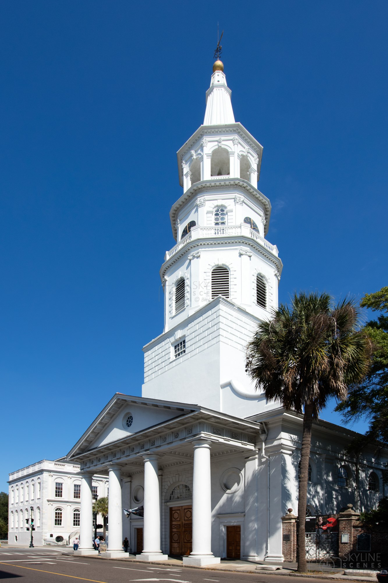 Sain Michael's Church in Historic Downtown Charleston, South Carolina