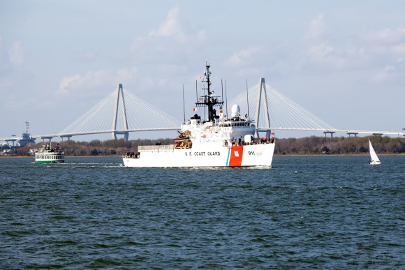 U.S. Coast Guard Cutter on the Cooper River
