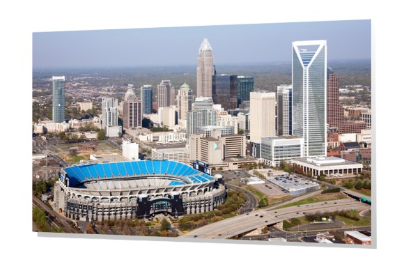 Charlotte Skyline with Bank of America Stadium