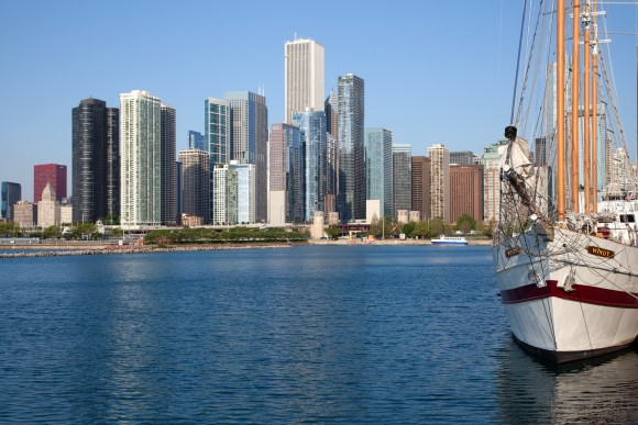 Lake Michigan waterfront in Chicago