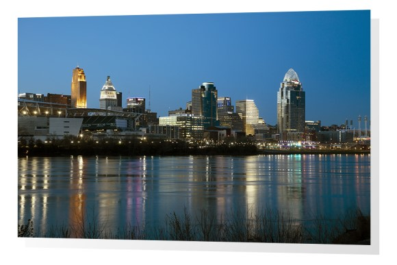 Cincy Skyline at dusk