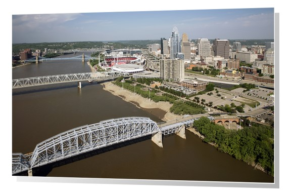 The Ohio River in Cincinnati