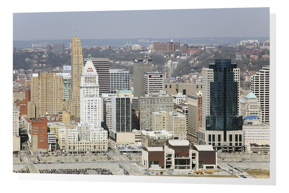 Cincinnati, Ohio Skyline Aerial