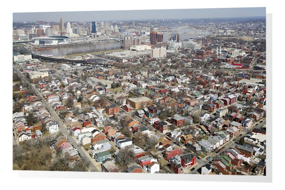 Skyline Aerial of Cincinnati