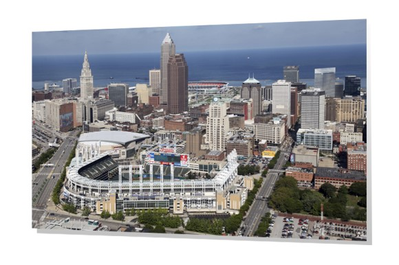 Cleveland Stadiums and Skyline