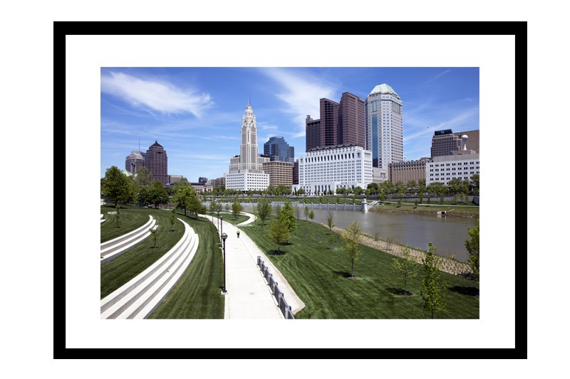 Genoa Park and the Columbus skyline