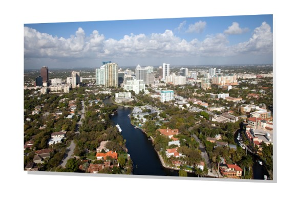 New River and Downtown Fort Lauderdale