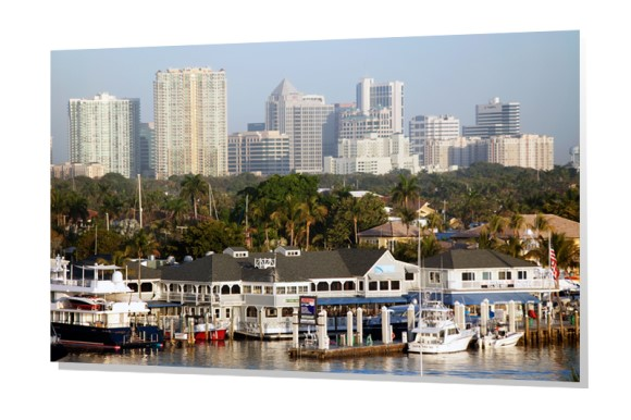 Lauderdale Marina and Downtown Skyline