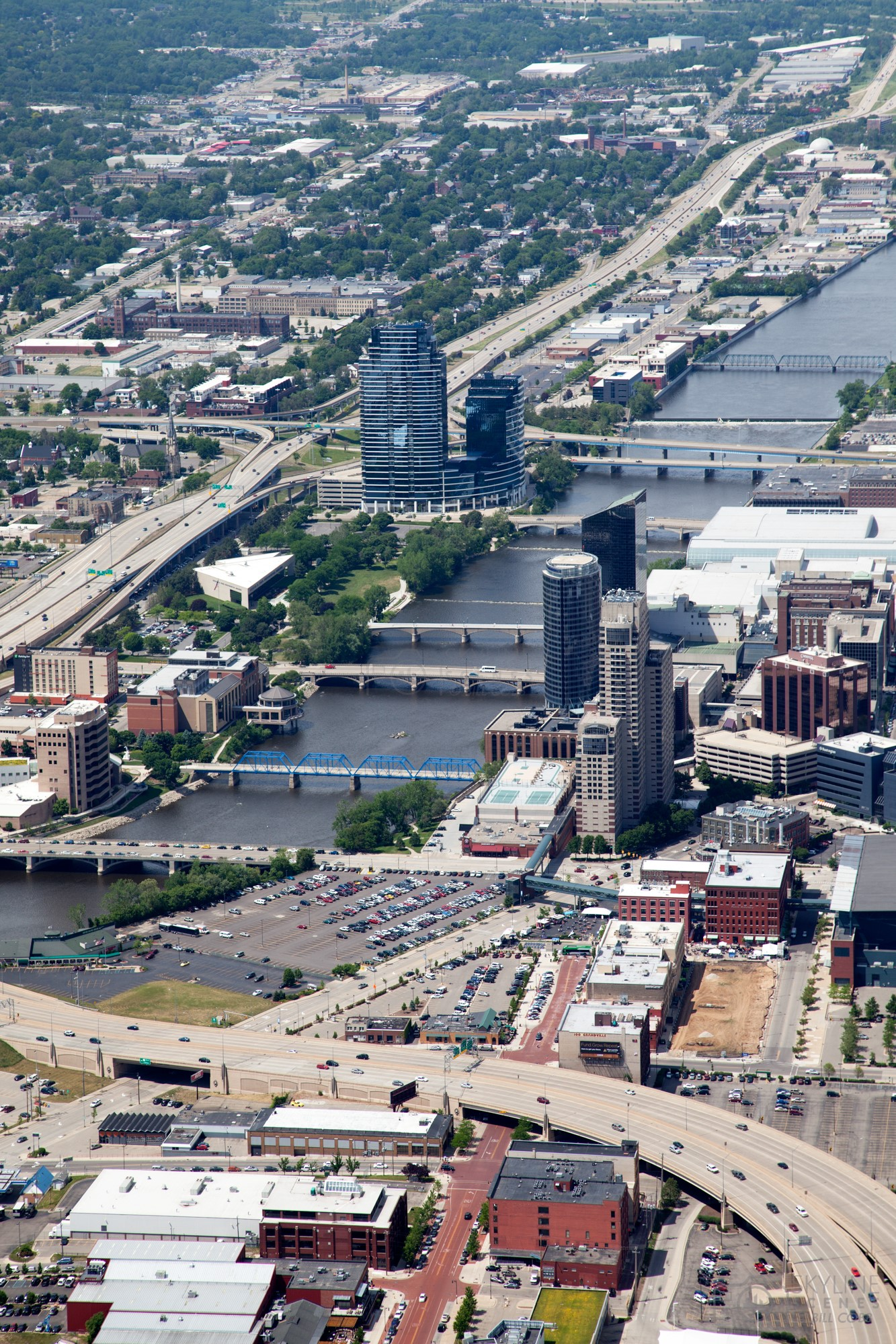 Aerial Of Grand Rapids Michigan