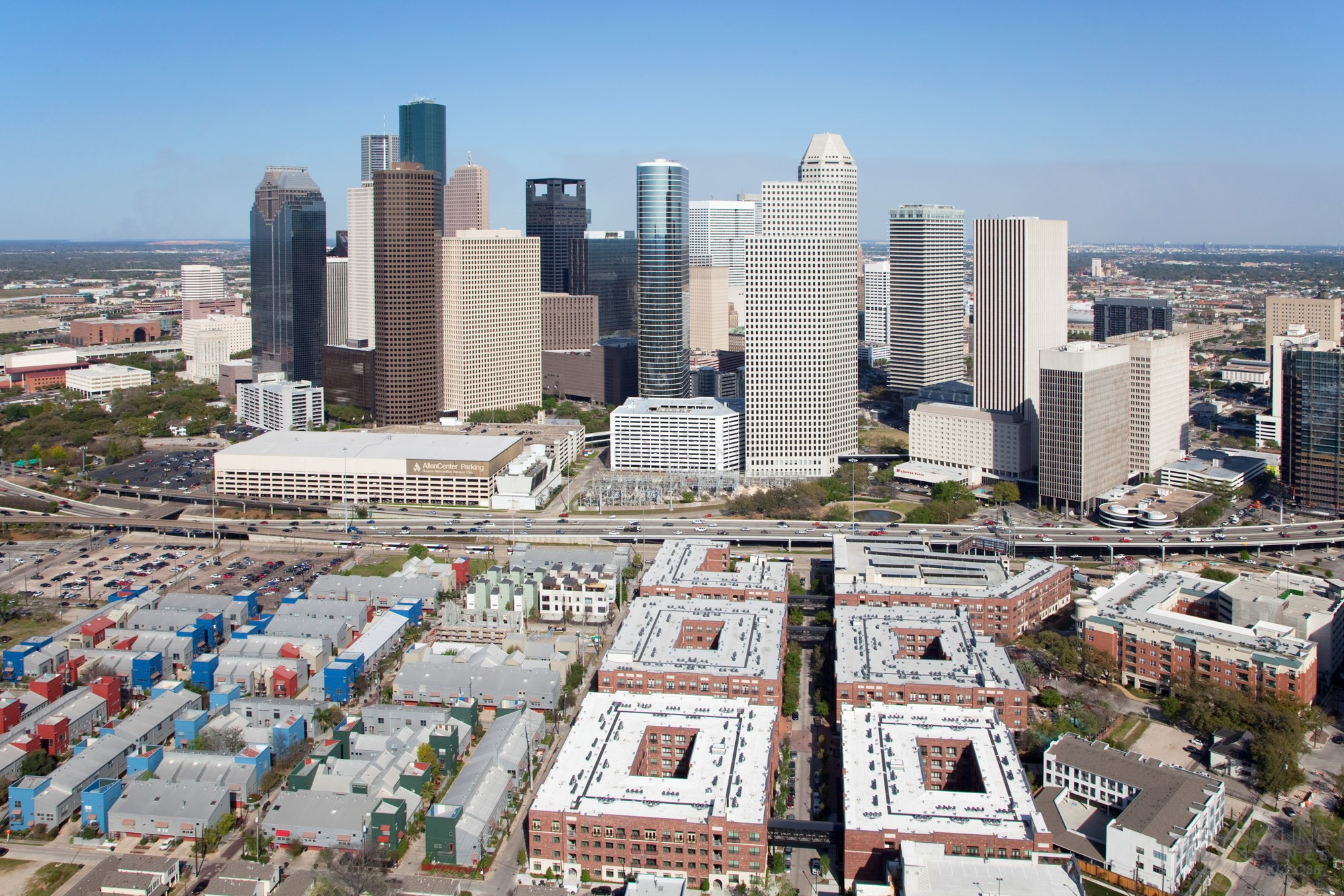 Aerial of the Houston Skyline