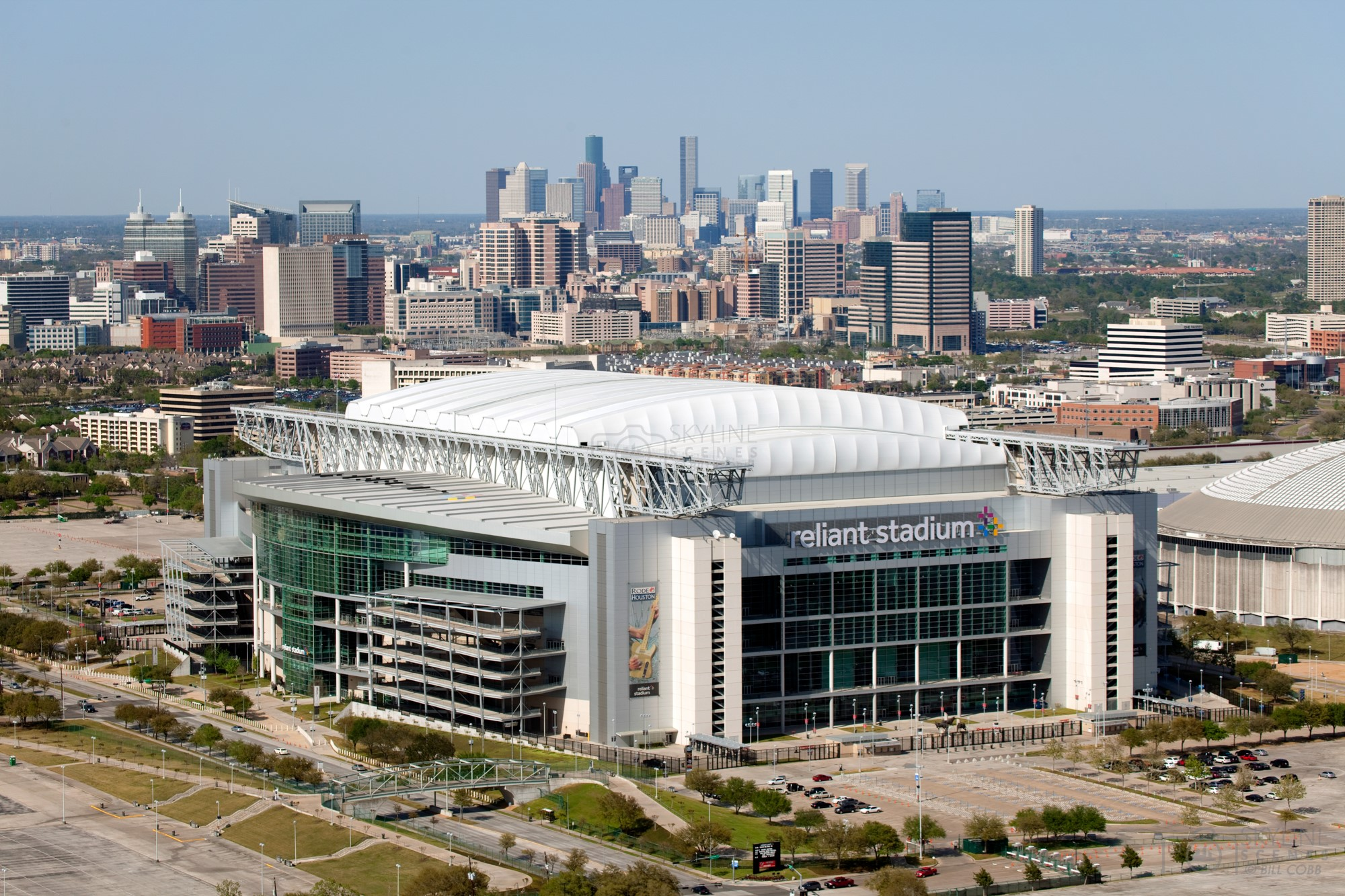 Reliant Stadium with Houston Skyline
