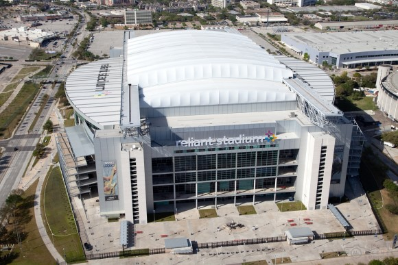 Aerial of Reliant NRG Stadium in Houston