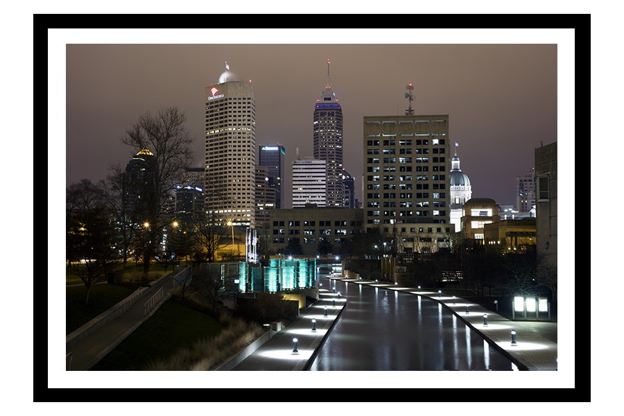 Downtown Indianapolis, Indiana Skyline at night