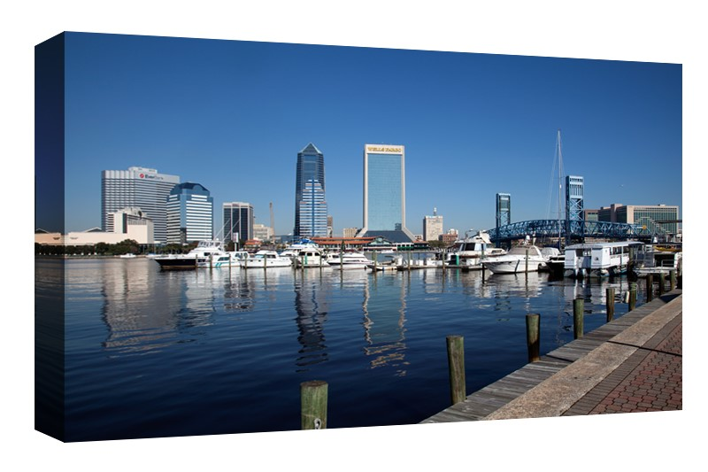 Jacksonville, Florida from the Southbank Riverwalk