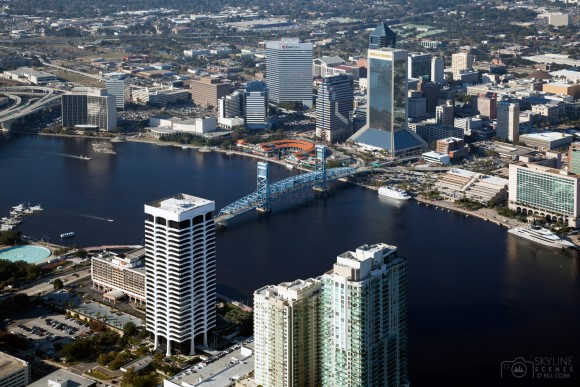 Aerial of Downtown Jacksonville, Florida
