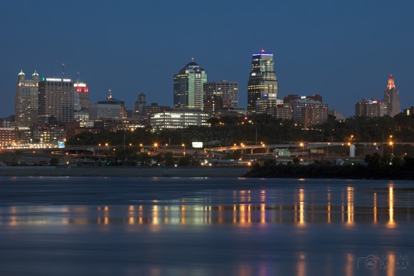 Kansas City Missouri Skyline from Kaw Point