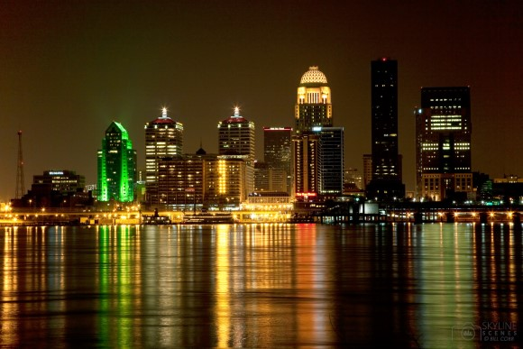 Downtown Louisville, Kentucky Skyline Night Shot