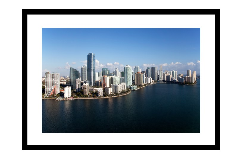 Miami Skyline from over Biscayne Bay