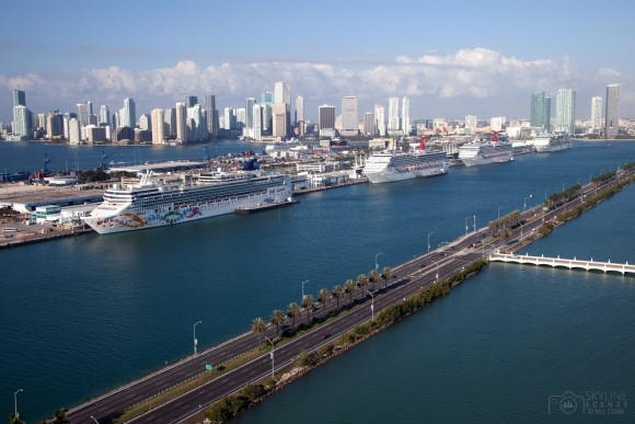 Macarthur Causeway and Port of Miami