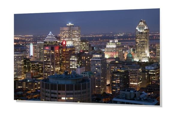 Downtown Montreal, Quebec at dusk