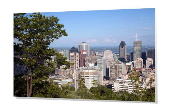 Montreal from Mount Royal Park