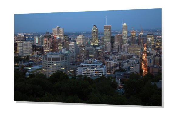 Downtown Montreal from Mount Royal Park