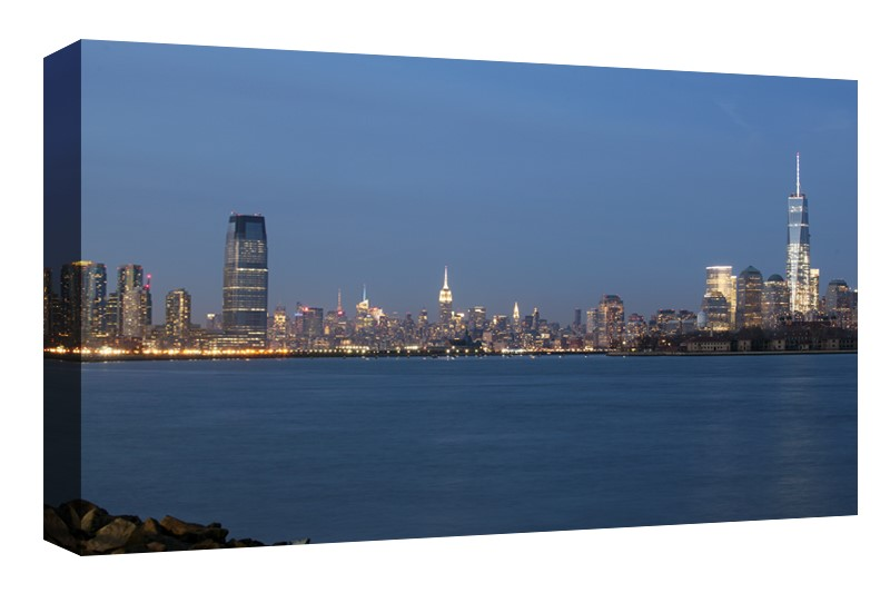 Jersey City, Midtown and Lower Manhattan skylines