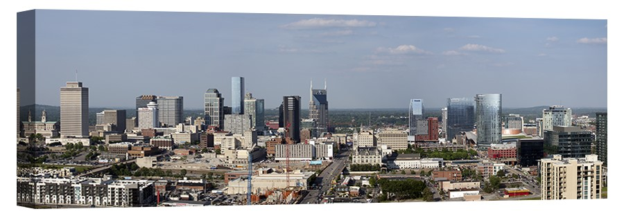 Nashville Skyline Panorama