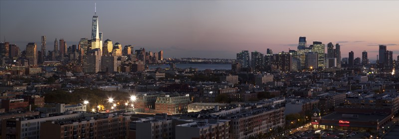 New York City and Jersey City Skyline Panorama