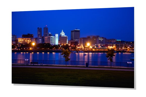 Peoria, Illinois skyline at Dusk