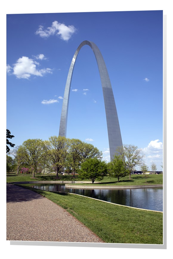 Gateway Arch and Memorial in Saint Louis