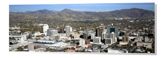 Salt Lake City Skyline Panorama