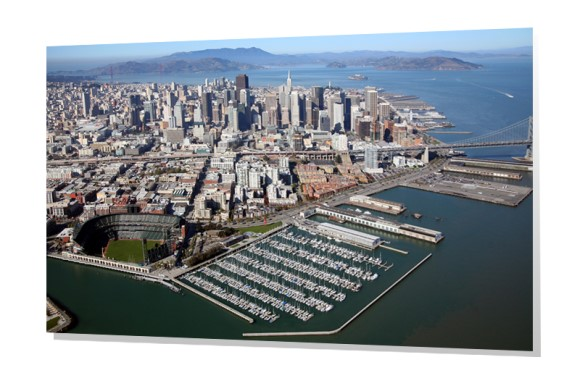 Downtown Aerial of the San Francisco, California Skyline