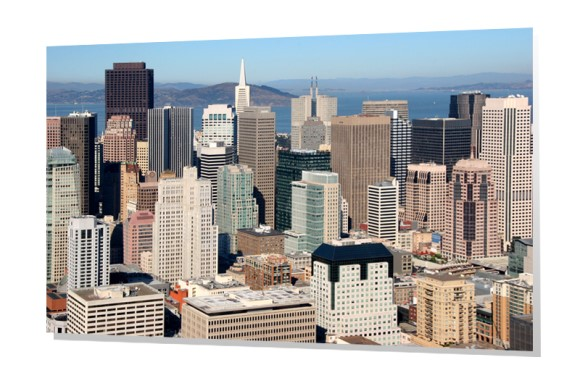 Downtown Skyline Aerial of San Francisco