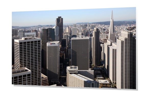 Downtown Aerial of San Francisco, California