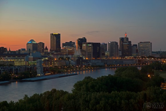 St Paul Skyline at Sunset