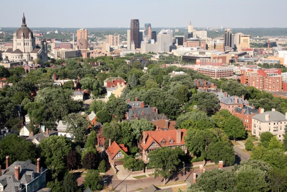 Downtown Skyline Aerial of St. Paul, Minnesota