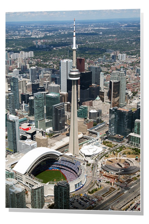 CN Tower and Rogers Centre, Toronto, Ontario