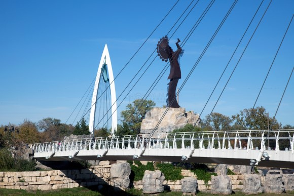 The Keeper of the Plains in Wichita