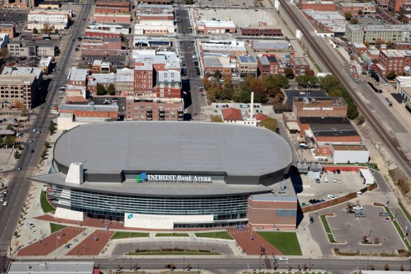 Intrust Bank Arena and Old Town Wichita